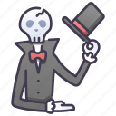 dead, death, face, gentleman, head, skeleton, skull