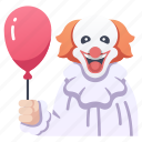 circus, clown, fear, halloween, horror, makeup, scary icon