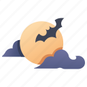 dark, full, halloween, moon, moonlight, night, twilight icon