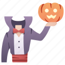 evil, halloween, headless, horror, pumpkin, scary, spooky icon