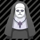 demon, ghost, halloween, horror, nightmare, nun, woman icon