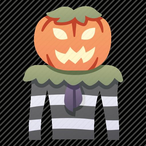autumn, evil, halloween, head, man, october, pumpkin icon