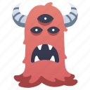 alien, devil, halloween, mascot, monster, scary icon