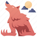 beast, fantasy, halloween, monster, night, werewolf, wolf icon