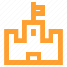 castle, conquer, conquest, defense, fort, medieval, strategy icon