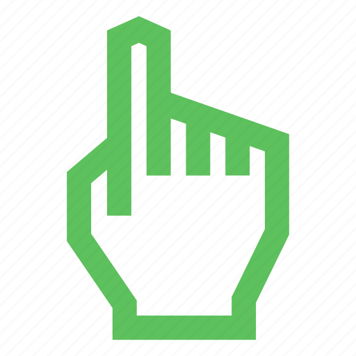 direction, drag, finger, hand, point, touch, up icon