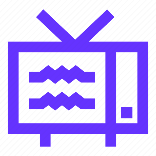 antennas, interference, old, retro, television, tuning, tv icon