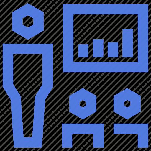 board, business, chart, meeting, presentation, profits, sales icon