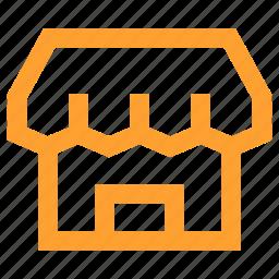 brick, business, corner, mortar, shop, store, street icon