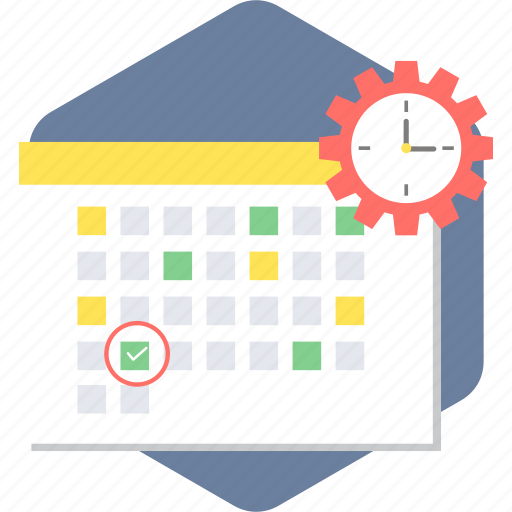 calendar, schedule, time, time management icon