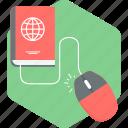 mouse, click, hardware, harddisk icon