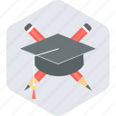 diploma, education, graduate, graduation, learn icon