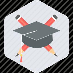 diploma, education, graduate, graduation, learn icon