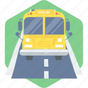 automobile, bus, school bus, school van, transportation, van icon