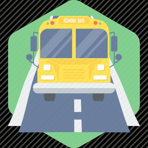 automobile, bus, school bus, school van, transportation, van icon
