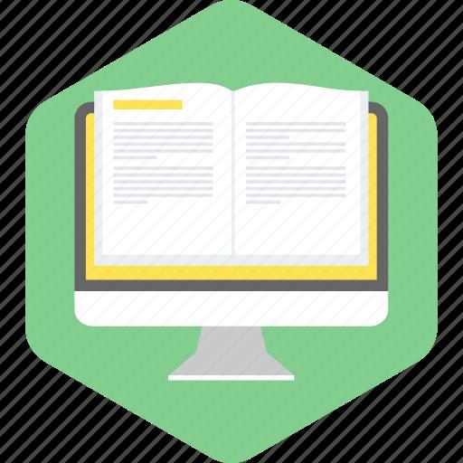 learning, reading, study, web, web learning icon