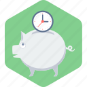 bank, money, piggy, piggy bank, saving, savings icon