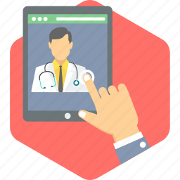 call doctor, contact, doctor, doctor advise, doctor call, phone, video call icon