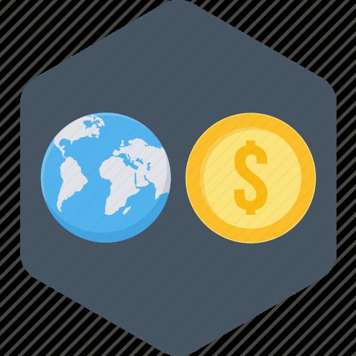 business, finance, global, money icon