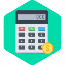 accounting, calculate, calculating, calculation, calculator, digital icon