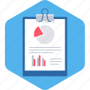 analytics, business, clipboard, diagram, graph, report icon
