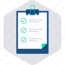 checklist, clipboard, list, task, tickmark icon