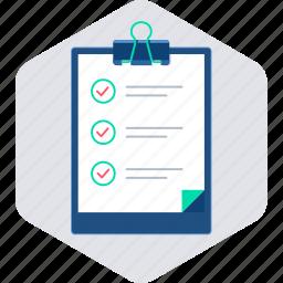 checklist, clipboard, list, task, tickmark icon