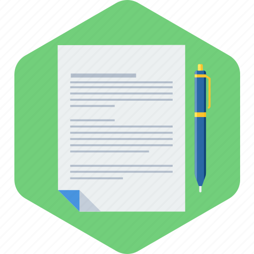 agreement, contract, page, paper, pen icon