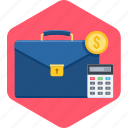 business, calculation, cash, money, office icon