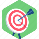 bullseye, center, focus, shoot, shooting, target icon