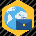 business, international, briefcase, work