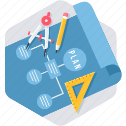office, school, stationery icon