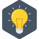 bulb, business, creative, idea, innovation, light, lightbulb icon