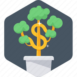ecology, green, money plant, plant icon