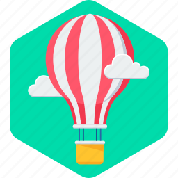air, balloon, flying, milestone, milestones, parachute, skydiving icon