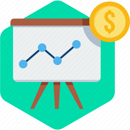 business, diagram, graph, growth, presentation, report icon