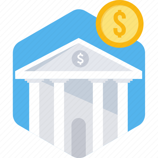 bank, business, finance, financial instituton, stock house, treasury icon