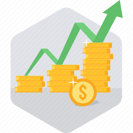 finance, growth, increase, presentation, sales, sales up icon