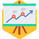 board, business, graph, presentation, report, statistics icon