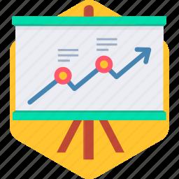 board, business, graph, presentation, report, statistics icon