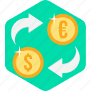 convert, currency, money, money convert, transfer icon