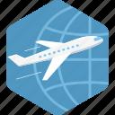 international, airplane, flight, global, travel