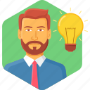 bulb, business, idea, innovation icon