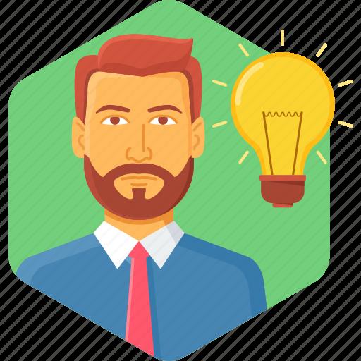bulb, business, idea, innovation icon