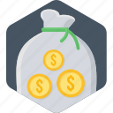 bank, business, cash, finance, money, money bag, payment icon
