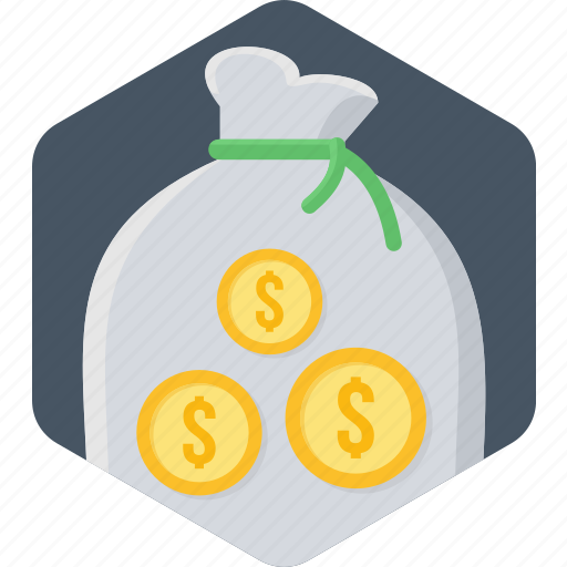 bank, business, cash, finance, money, money bag, payment icon