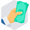 cash, financial, business, money, dollar, currency, payment icon