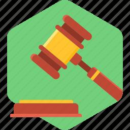 auction, bid, judge, justice, law, lawsuit, legal icon