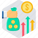 bag, business, cash, currency, finance, money, payment icon