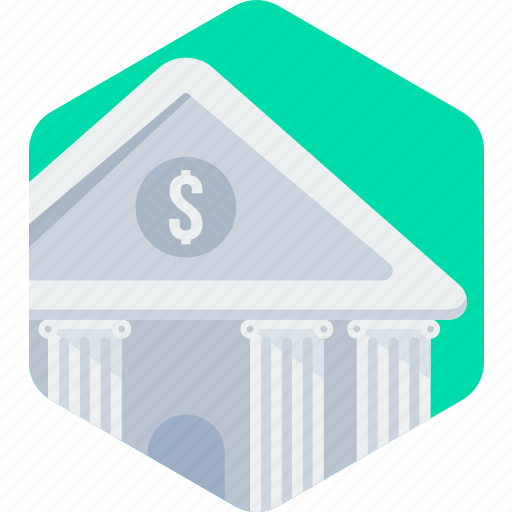 bank, banking, financial institution, stock, stockhouse, treasury icon